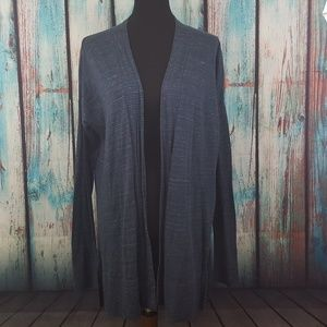 Lou & Grey Space Dye Open Front Cardigan